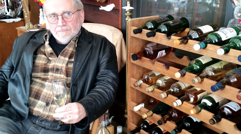 """Jim DeCaro and his friend Alan Senior (opposite page) have a real love for Scotch whisky. They have held their """"Wednesday Night Tastings"""" to drink scotch since 1980."""