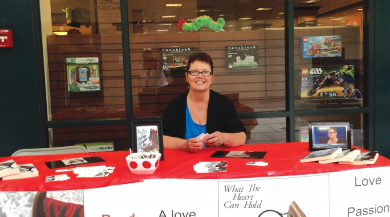 Charlotte Symonds during one of her book sign events.