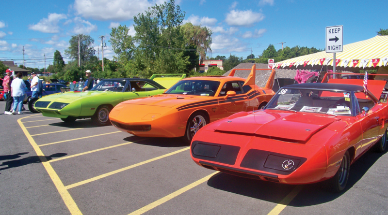Modified Plymouth Roadrunner Super Birds. Photo taken in 2014 at the Baytowne Car Show.