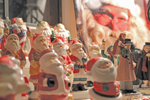 "A sample of the Santa Claus collection owned by John Addyman. ""I collect Santa Clauses...lots of them,"" he says."