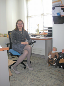 """Geriatrician Diane Kane at her office at St. Ann's Community. """"I thought, 'this is a reasonable starting job for a young doctor who has a young baby,"""" she says about her decision to join St. Ann's. Next year, she will celebrate 30 years with the organization."""
