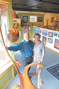 John Henry Green, 67, and his wife Suzanne, 61, recently opened their Original Green, an art studio in Canandaigua.