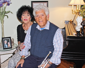 Johnny Matrachisia, 80, with his wife Barbara, also a member of band.