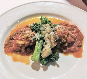Beef braciole: Tender braised beef braciole is one of four entrees on the $28 prix fixe three-course menu available from November to April on Tuesday, Wednesday and Thursday nights.
