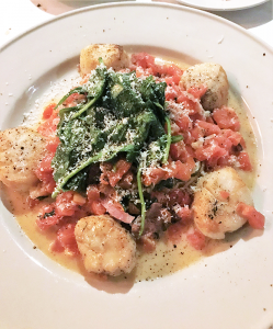 Cappa Santa: One of six Romano family recipes on the menu, this dish paired plump seared scallops with a lemon butter sauce speckled with prosciutto, providing the perfect salty kick.
