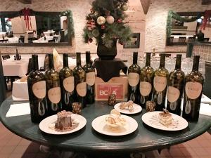 Dessert: Left to right: Rosalie's Cioccolato Torta, Banana Budino, Cannoli Siciliani and Tiramisu.