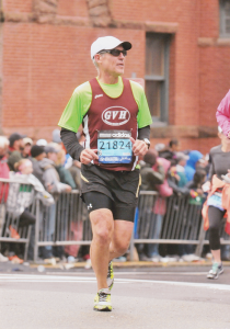 Bill Clauss, 65, during his run at Boston Marathon in 2015