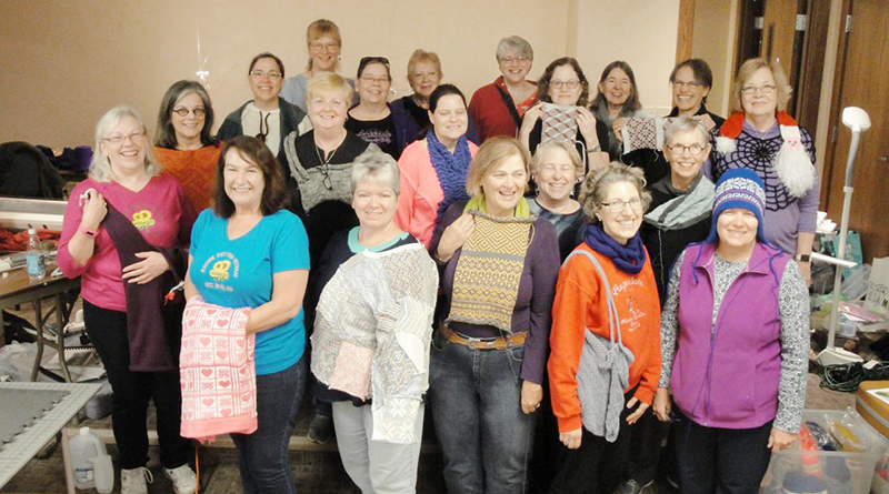 Members of the Finger Lakes Knitting Club.