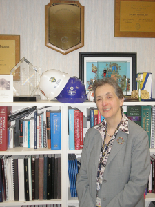 Physician Nina Schor in her office. She has helped the University of Rochester School of Medicine and Dentistry's pediatrics department grow from 110 to 175 faculty members — including 150 physicians — and taken its pediatric research programs in new directions.