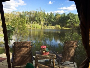 A scenic pond was one of the elements the Oliveira considered last year to buy their new Dundee property.