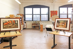 Roslyn Rose's atelier in the Anderson Arts Building at 250 N. Goodman St.
