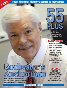 Don Alhart was on the cover of the very first edition of 55 PLUS, Winter 2009. At the time he was 65 years old and said he had no plans to retire. Now at 73 he said he might retire in about a year.