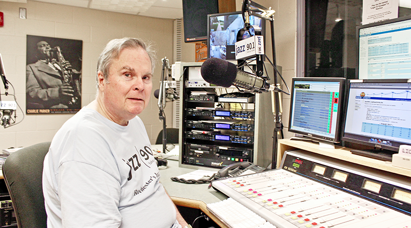 Phil Dodd, 69, is one of the voices at Jazz 90.1. He has volunteered at the station for 22 years.