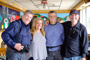 At one of the stops along the way, Brent Walton and Paul Bardotz met with the new owners of The Launch Pad, a well-known Route 66 eatery, Hollay and Yully. They hope to reopen it in 2018.