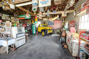 This is what the inside of the Gay Part Sinclair Gas Station looks like about 25 miles west of Springfield, Mo., an example of the eclectic Americana that awaits on Route 66.
