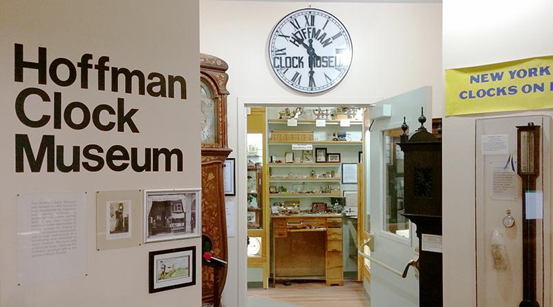 The Hoffman Clock Museum in Newark displays dozens of timepieces. Photo by Deborah Jeanne Sergeant