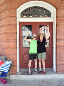 Sandy Wallace and Jewel Burr at The Doyle in Duncannon in Pennsylvania during their eight days on the Appalachian.
