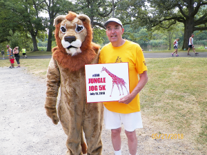 Bruce Rychwalski, 68, completed his 300th 5K on July 15 at the Seneca Park Zoo Society's Jungle Jog at Seneca Park. Photo provided.