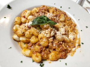 Gnocchi with vodka sauce.