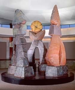 """Triad,"" which once greeted travelers in a section of the Greater Rochester International Airport."