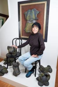 Jurs at her studio in Scottsville. Photo by Chuck Wainwright.