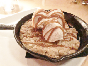 The cast iron cookie dessert sounded too tempting to pass up.