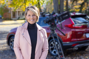 Robin De Wind stars in a commercial for one of her clients, the Canandaigua auto dealership Ontario Honda.