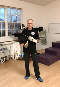 Russian-born 55-year-old Semion Kiriakidi first picked up the sport of fencing at the age of 10. Last August, he founded his own school in Greece, Ludus Fencing Studios.