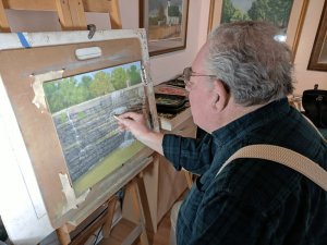 Besanceney's favorite hobby is pastel painting. He has won several awards in local art and pastel shows. He taught basic drawing at adult classes at Honeoye Falls-Lima High School and was certified to teach adult education classes in New York state.