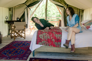 Glamping photos are courtesy Firelight Camps at La Tourelle Resort and Spa.