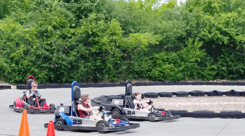Clubhouse Fun Center in Henrietta offers go-karts three ways: a slow track for beginners, tandem for very young riders and the fast track for older children and adults. Photo by Deborah Jeanne Sergeant.