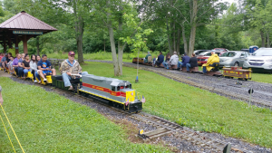 Finger Lakes Live Steamers in Clyde will thrill any train enthusiast, young or old. The club opens its 12-acre grounds on Sept. 28 to welcome the public to ride its three different gauge railroads. Photo by Deborah Jeanne Sergeant.