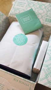A sample of the box clients receive from Stitch Fix. The company has one of the most popular clothing subscription services currently available.
