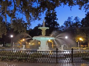 Forsyth Fountain in Forsyth Park in Savannah, Georgia, is also a favorite destination. Photos courtesy of Carpe Diem Travel, Rochester.