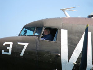 Austin Wadsworth pilots one of the planes at his museum.