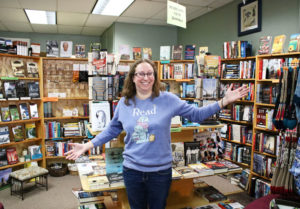 Carrie Deming, owner of The Dog Eared Book in Palmyra.