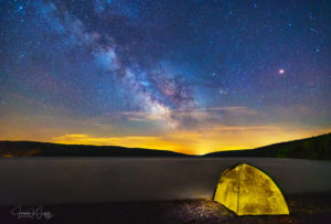Stellar Camp by Joann Long. Enjoying the amazing Milky Way on a clear night in the Finger Lakes and capturing its beauty was a highlight for Long.