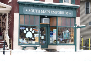 White Paw Books & Curiosities shop in Newark.