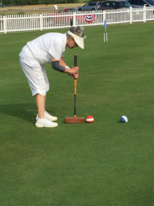 Rochester Croquet Club member Andree Boothe.