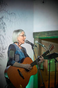 Maria Gillard performing March 13 at the Hollerhorn Distillery in Naples. Photo by Chuck Wainwright.