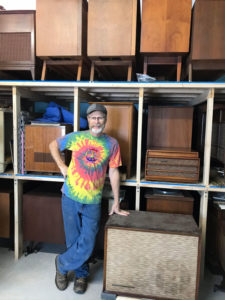 Dan Bogel of Walworth The Record Stereo Console Restoration. He says growth in the popularity of records has also spurred a growth in record consoles.