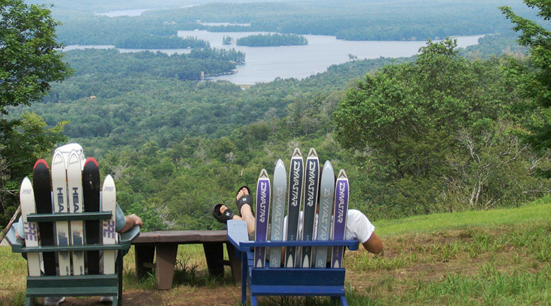 McCauley Mountain in Old Forge is famed for skiing but the ski lift to the summit runs year-round offering panoramic views of the beautiful mountains and lakes.
