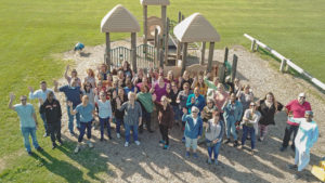The Child Care Council staff gathered for a group photo.