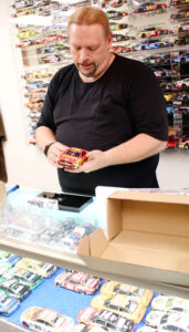 Keith Stell, owner of Bench Racing Diecast Models and Collectibles in Newark.