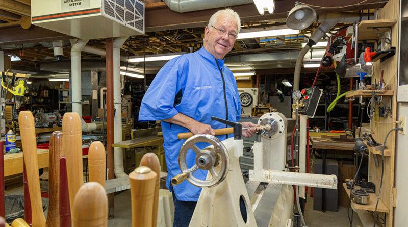 Bruce Trojan in his Victor studio. Photo courtesy of Melody Burri.