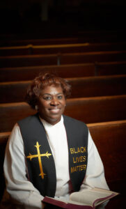 Rev. Myra Brown, pastor of Spiritus Christi Church in Rochester, photographed by  Chuck Wainwright on Nov. 17 at her church.