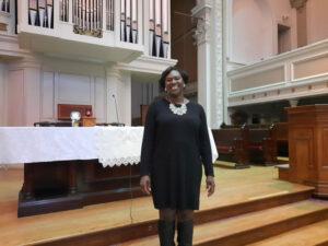 Rev. Brown at her Spiritus Christi Church. Photo by Christine Green