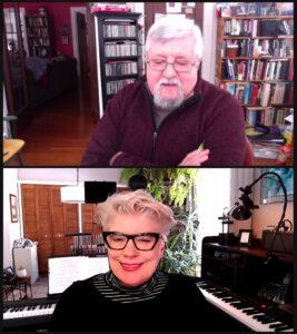 Writer John Addyman interviews jazz singer Nancy Kelly on Zoom.
