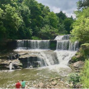 Keuka Lake Outlet Trail. This scenic hike includes a mill site, old lock sites and numerous waterfalls (Seneca Mills Falls, Cascade Mills Falls).