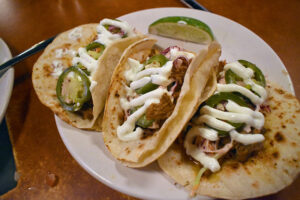 Pork tacos at Native Eatery.